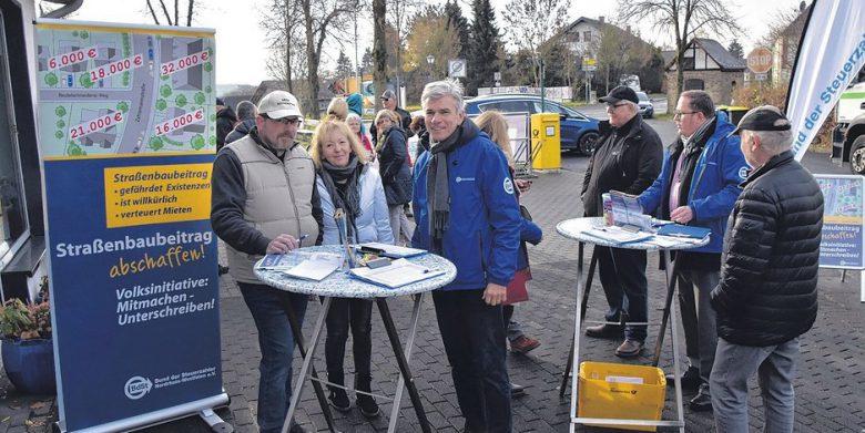 winterscheid-proteste-strassenbaubeitraege (Straßenbaubeiträge sollen abgeschafft werden)