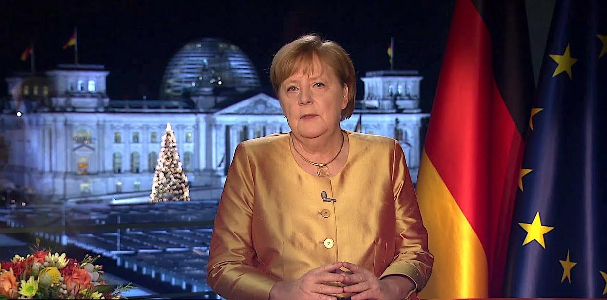 merkel2020 (Letzte Neujahrsansprache von Angela Merkel zu einem besonderen Jahreswechsel)