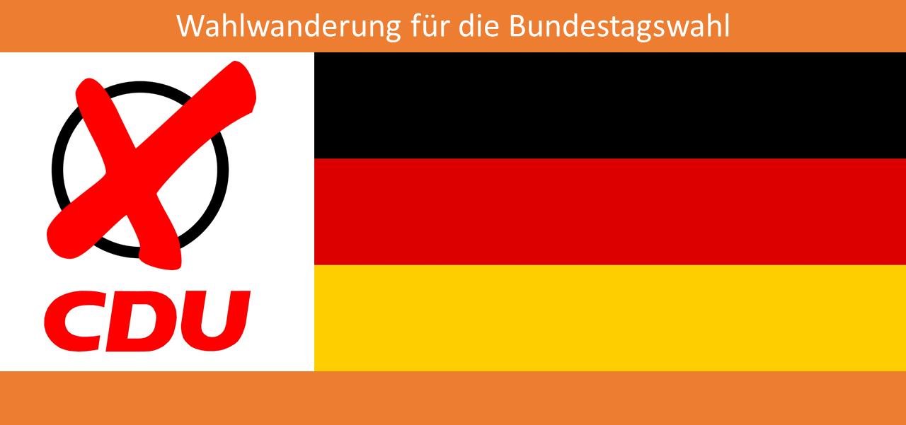 btw-2 (Zur Bundestagswahl: wir wandern wieder und suchen Bürgerkontakt)